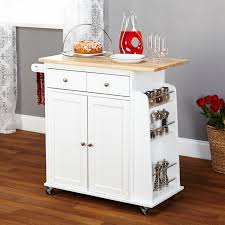 wooden furniture for kitchen alcott hill ferraro kitchen cart with wooden top reviews wayfair
