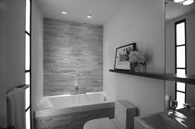 black white brown bathroom design with tile wall decor interior