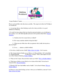 bullying worksheets for kids worksheets releaseboard free