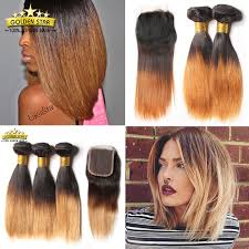 short hairstyles with closures 8a short bob ombre brazilian straight 3 bundles with closure