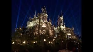 harry potter night light new nighttime lights at hogwarts castle harry potter projection show