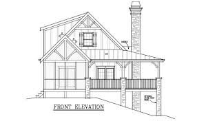 Cottage House Plans With Wrap Around Porch 2 Bedroom Cabin Plan With Covered Porch Little River Cabin