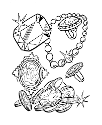 treasure coloring pages coloring