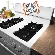 stove top 672s 5 pack nonstick gas stovetop liners range kleen rangekleen