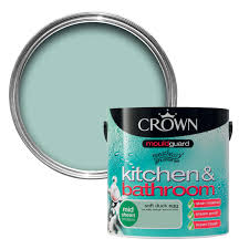 crown kitchen u0026 bathroom soft duck egg mid sheen emulsion paint