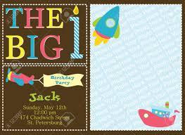 Children Birthday Invitation Card Kid Invitation Card Design Illustration Royalty Free Cliparts