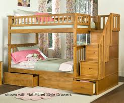 3 Tier Bunk Bed Columbia Staircase Bunk Bed Caramel Latte Bedroom Furniture