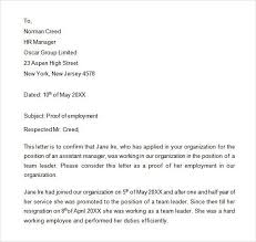 proof of employment letter best business template