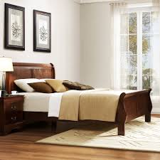 Brown Wood Bed Frame Furniture Marvellous Bedroom Design Ideas With Brown Wood
