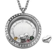 floating locket necklace images Mothers love is forever floating locket jpg