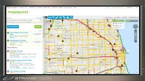 Chicago Traffic Map Strandvision Digital Signage Enhances The Live Web Page