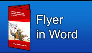flyer designen programm flyer selber machen in word