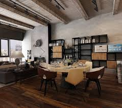 20 industrial style apartment living and dining room design