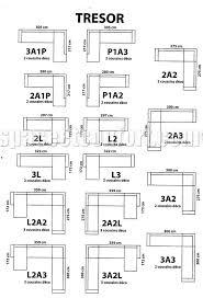 dimensions canapé canapé d angle tresor fixe