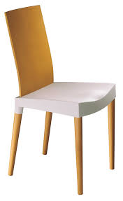 miss trip chair ivory natural beech by kartell