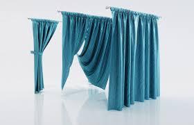 3d model ocean blue window curtains cgtrader