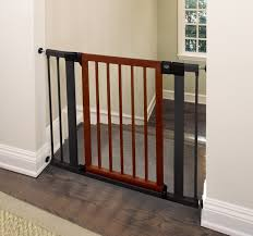 Child Stair Gates Munchkin 31283 Wood Steel Designer Gate Dark Wood Silver Amazon