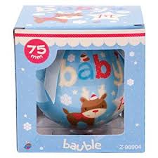Baby S First Christmas Decoration Uk by Baby U0027s First Christmas Blue Bauble Christmas Decoration New Born
