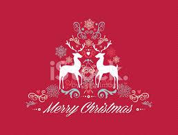 vintage merry christmas tekst met rendieren ontwerpen eps10