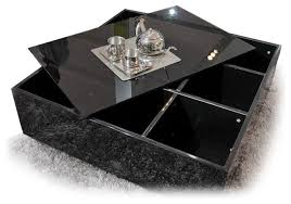 black coffee table with storage stylish square black coffee table modern black square glass top