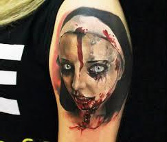 horror nun tattoo by sergey shanko no 1857