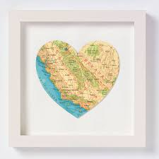 Santa Barbara California Map California Map Heart Print By Bombus Notonthehighstreet Com