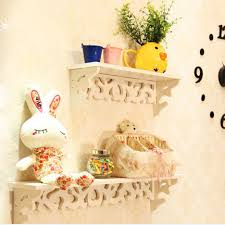 Easter Home Decorations Pvc Board White Carve Display Wall Shelf Rack Storage Ledge Home