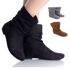 womens size 9 ankle boots uk womens faux suede fashion pixie ankle boots flats shoes uk