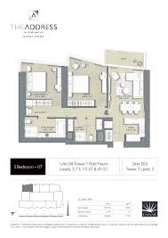 Residence Floor Plans The Address Residence Dubai Opera Tower 1 Floor Plans