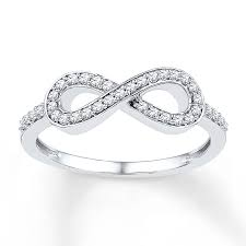 jared jewelers kay diamond infinity ring 1 5 ct tw round cut sterling silver