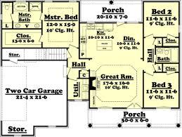 1500 Sq Ft Floor Plans European Style House Plan 3 Beds 2 00 Baths 1500 Sq Ft Plan 430 61