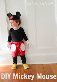 mickey mouse toddler costume easy diy mickey pals costumes the chirping