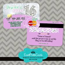 lilac mint sweet 16 credit card sweet sixteen credit card