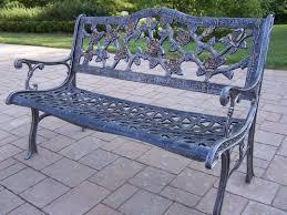 impressive patio cast aluminum bench outdoor garden regarding