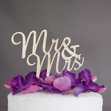 cake toppers for wedding cakes mr and mrs wedding cake topper gold rhinestone