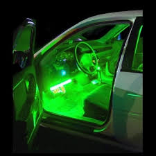 underbody led lights green car truck 4 kit led strips