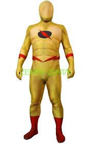 reverse flash dcuo costume printed spandex lycra zentai suit