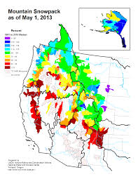 Great Basin Usa Map by Mountain Snowpack Map Western Us