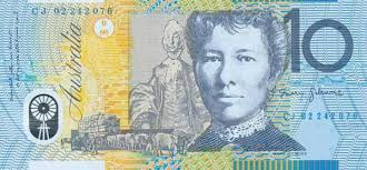 Australian $10.00 polymer notes bearing a likeness of Dame Mary Gilmore were first issued in 1993. - NW%20Vol278