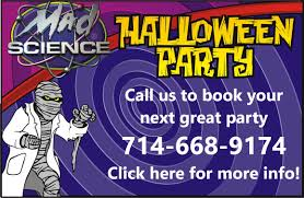 city of brea halloween event mad science