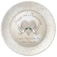 personalized china plates 2nd anniversary plates zazzle