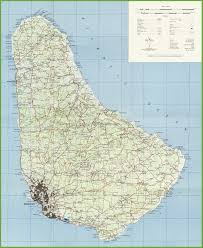 Ord Map Large Detailed Map Of Barbados