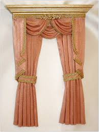 fancy shower curtains design ideas with peach color and gold