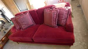 sofa com u0027bluebell u0027 red velvet sofa available rrp 1600 when