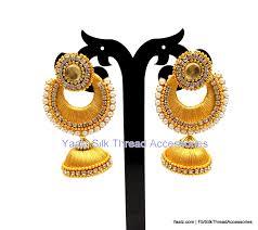 jhumka earrings gold yaalz partywear chand bali jhumka earring in gold color