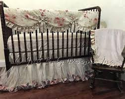 shabby chic crib bedding etsy