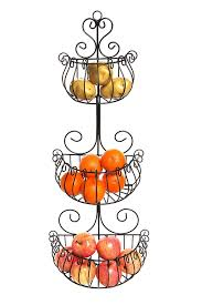 amazon com wall mounted scrollwork design deluxe 3 tier black