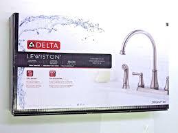 Delta Lewiston Kitchen Faucet Delta Lewiston Kitchen Faucet 21902lf In Brilliance Stainle By