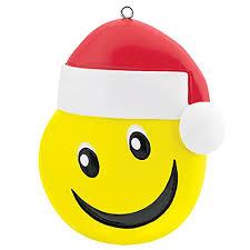 carlton ornament 2017 smiley with santa hat emoji