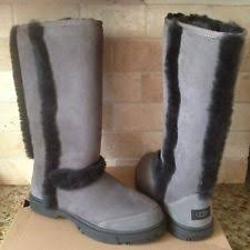 s cold weather boots size 12 ugg sunburst grey exposed wool sheepskin cold weather boots